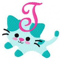 Gracie the Kitty Monogram Set