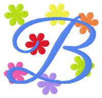 Cheery Flowers Monogram Set