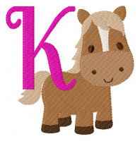 Little Pony Horse Monogram Set