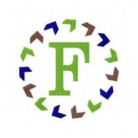 Chevron Arrow Circle Monogram Set 1