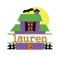 Haunted House Halloween 4x4 Split Machine Embroidery Monogram Font Set Joyful Stitches Instant Download
