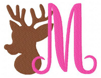 Deer Reindeer 5x7 Monogram Set