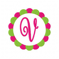 Blooming Circle Monogram Set