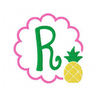 Pineapple Monogram Design Set