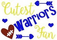 Warriors // Football // Cutest Fan // Bonus Included