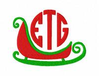 Santa's Sleigh Three Letter Monogram Set