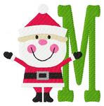 Cheery Santa Clause Monogram Set