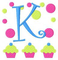 Bake Shop Cupcake Monogram Set