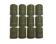 UTG 12 PIECE RUBBER RAIL GUARDS FOR PICATINNY RAILS (OLIVE DRAB GREEN)