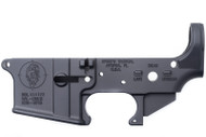 SPIKE'S TACTICAL AR-15 STRIPPED LOWER RECEIVER WITH ZOMBIE LOGO
