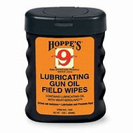 HOPPE'S LUBRICATING GUN OIL FIELD WIPES (50 WIPES)
