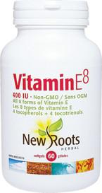 New Roots Vitamin E8 400IU (60 softgels)