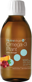 Ascenta NutraVege2x Extra Strength Omega-3 Plant Orange Cranberry (200 mL)