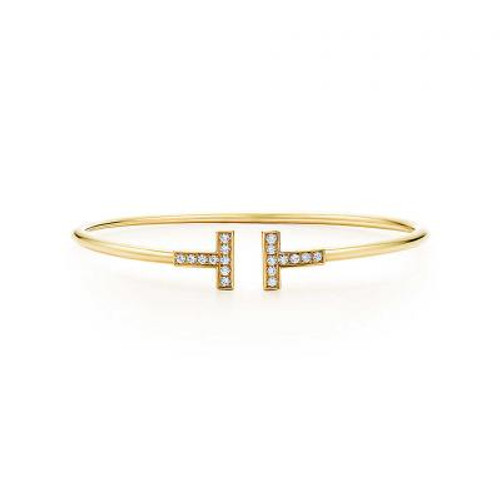 GP Micro Pave CZ T Bangle