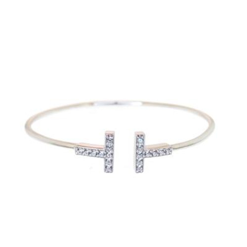Micro Pave CZ T Bangle