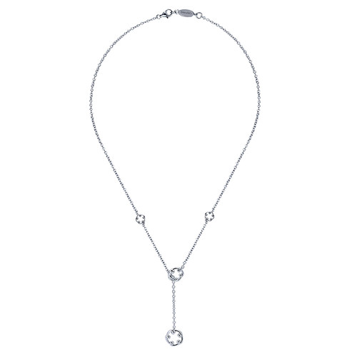 925 Silver Lariat Necklace NK2807SVJJJ