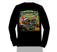 2018 Black Campbell Racing Long Sleeve Cartoon Tshirt
