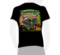 2018 Black Campbell Racing Short Sleeve Cartoon Tshirt