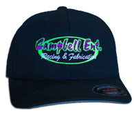 Campbell Ent Racing and Fabrication Black Flexfit Hat