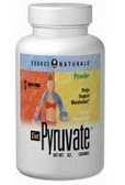 Diet Pyruvate Powder 3 oz, Source Naturals