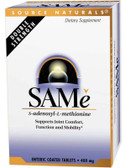 SAMe 200 mg S-Adenosyl-L-Methionine 20 Tabs Source Naturals, Stress, Joints