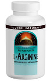 L-Arginine 500 mg 100 Caps, Source Naturals