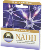 NADH 20 mg 30 Tabs Source Naturals, Energy and Mental Alertness