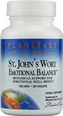 St. John's Wort Emotional Balance, 30 Tabs, Planetary Herbals