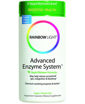 advanced enzyme system 60 caps rainbow light digestive discomfort. Black Bedroom Furniture Sets. Home Design Ideas