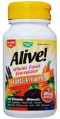 Alive No Iron added 90 Tabs, Nature's Way