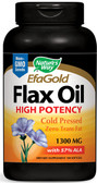 Flax Seed 1300 mg 100 Softgels, Nature's Way EfaGold Flax Oil