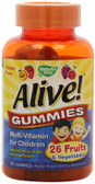 Alive! Children's Multi-Vitamin 90 Gummies, Nature's Way