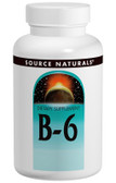 Vitamin B-6 500 mg Timed Release 100 Tabs, Source Naturals