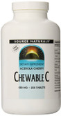 Acerola Chewable C 500 mg 250 Tabs, Source Naturals
