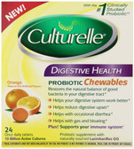 Culturelle Digestive Health Probiotic 24 Chewables I-Health, Gas & Bloating