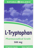 L-Tryptophan 500mg 60 ct Natural Balance, Stress
