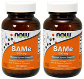 2-Pack Of SAM-e (double strength) 200 mg 30 Tabs, Now Foods, Joints & Relaxation