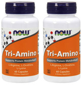 2-Pack Of Tri-Amino 60 Caps, Now Foods, Supports Protein Metabolism