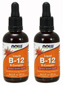 2-Pack Of Liquid B-12 B-Complex 2 oz (60 ml), Now Foods, Energy Booster