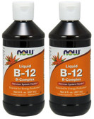 2-Pack Of B-12 Liquid B-Complex 8 oz (237 ml), Now Foods