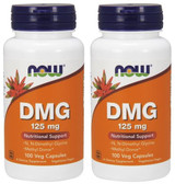 2-Pack Of DMG 125 mg 100 Caps, Now Foods