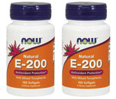 2-Pack Of Vitamin E-200 MT 100 Sgels, Now Foods