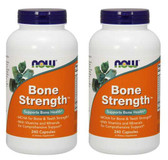 2-Pack Of Bone Strength 240 Caps, Now Foods