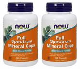 2-Pack Of Full Spectrum Mineral Caps 120 Caps, Now Foods