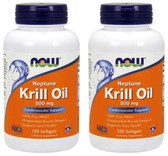 2-Pack Of Neptune Krill Oil 500 mg 120 sGels, Now Foods