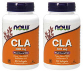 2-Pack Of CLA 800 mg 90 Sgels, Now Foods