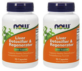 2-Pack Of Liver Detoxifier & Regenerator 90 Caps, Now Foods