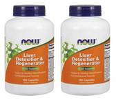 2-Pack Of Liver Detoxifier & Regenerator 180 Caps, Now Foods