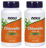 2-Pack Of Chlorella 1000 mg 60 Tabs, Now Foods
