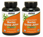 2-Pack Of Organic Barley Grass Juice Powder 4 oz (113 g), Now Foods